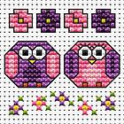 Little Owls Cross Stitch Card Kit
