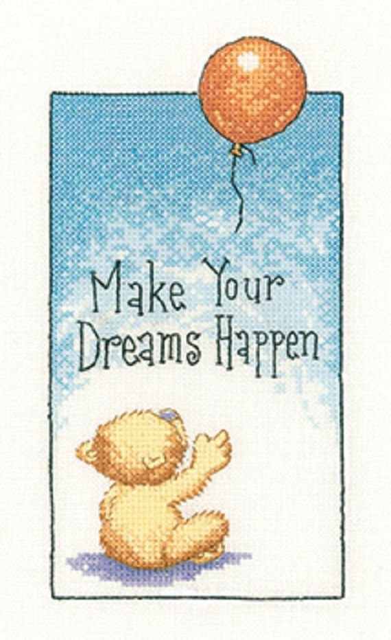 Make Your Dreams Happen Cross Stitch Kit By Peter Underhill