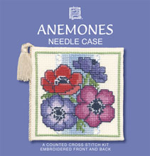 Anemones Needle Case Cross Stitch Kit