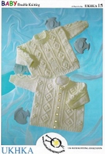 Baby Boys Girls Cardigan & Sweater DK Knitting Pattern (Birth - 2 yrs) UKHKA 15