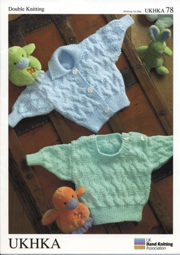 Baby Cardigan & Sweater DK Knitting Pattern (Baby - 4/5 years). UKHKA 78