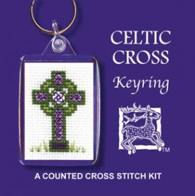 Celtic Cross  Keyring Cross Stitch Kit