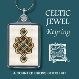 Celtic Jewel  Keyring Cross Stitch Kit