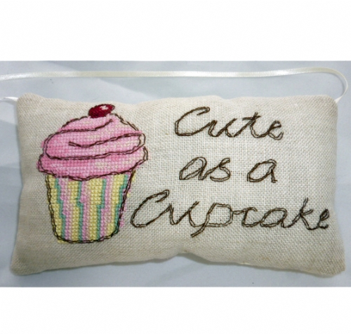 Cupcake Vintage Mini Pillow Kit from Cinnamon Cat