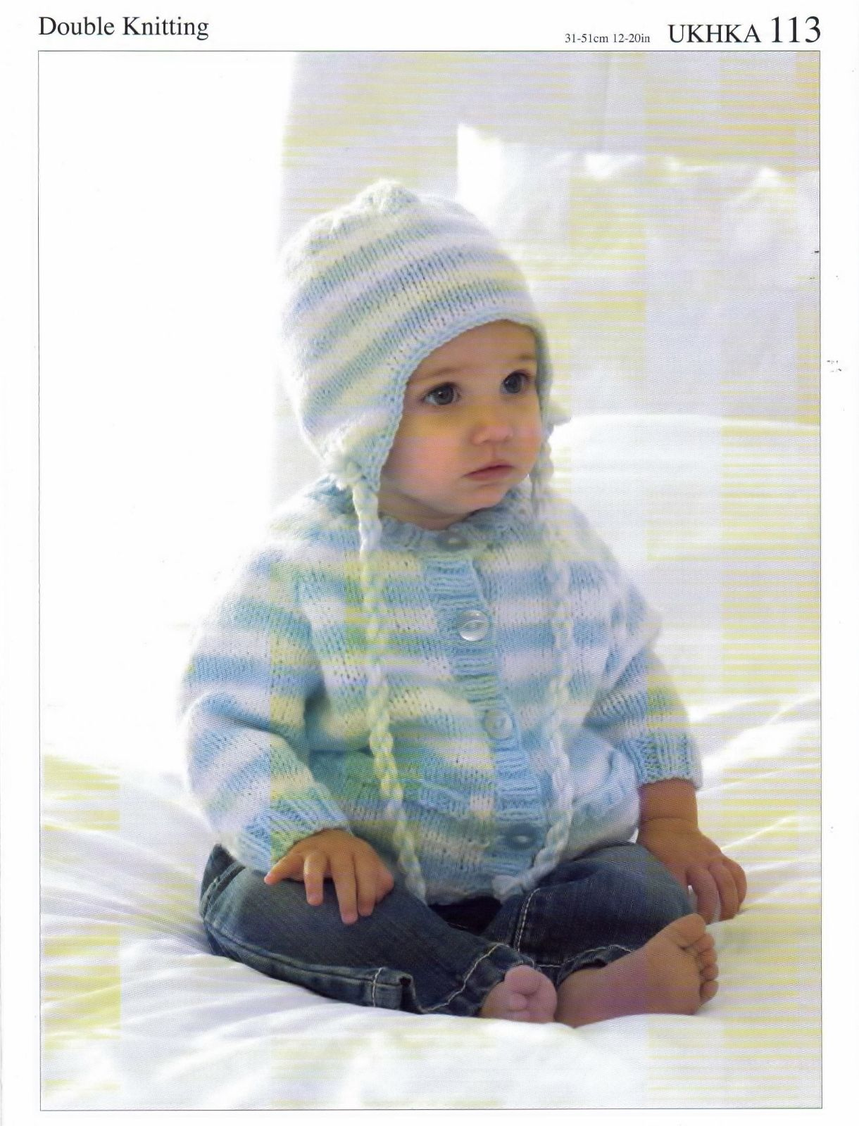 DK Baby Boys Knitting Pattern - Cardigan Hat Scarf Prem - 12 mths ...