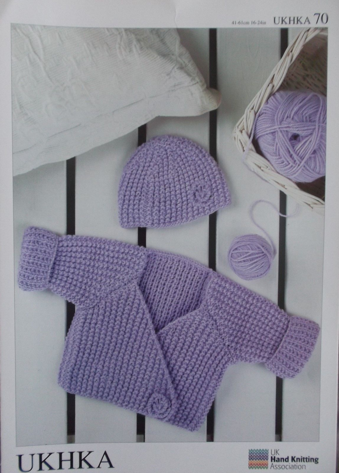 ce7bbc023 DK Wrap Cardigan and Hat UKHKA 70 0-3 months to 3-4 years