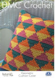 DMC Natura XL Crochet Chart/Pattern. Geometric Cushion Cover.