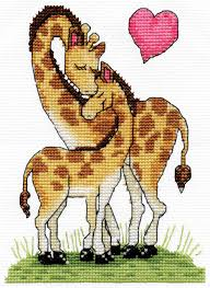 Giraffe Love Cross Stitch Kit-3455