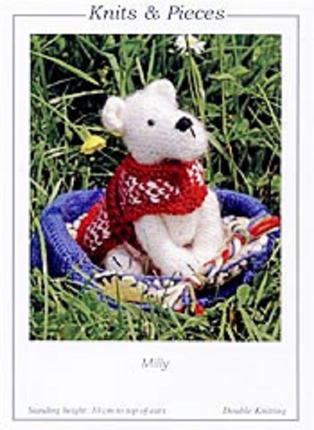 Knits Pieces Milly Toy Dog And Bed Knitting Pattern