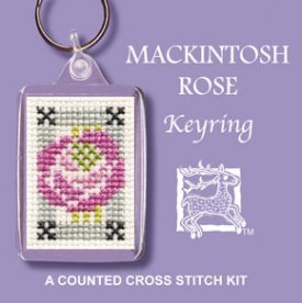 Mackintosh Rose  Keyring Cross Stitch Kit