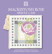 Mackintosh Rose  Needle Case Cross Stitch Kit