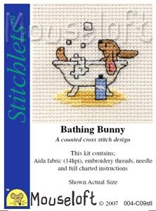 Mouseloft Stitchlets  Bathing Bunny