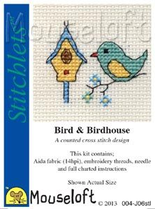 Mouseloft Stitchlets  Bird and Birdhouse