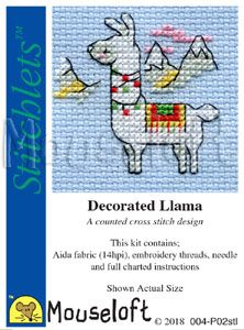 Mouseloft Stitchlets  Decorated Llama