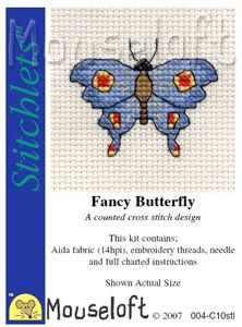 Mouseloft Stitchlets  Fancy Butterfly