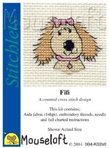 Mouseloft Stitchlets  Fifi Dog