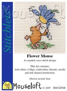 Mouseloft Stitchlets Flower Mouse