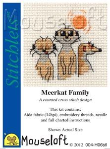 Mouseloft Stitchlets Meerkat Family