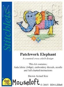 Mouseloft Stitchlets Patchwork Elephant