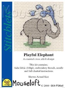 Mouseloft Stitchlets Playful Elephant
