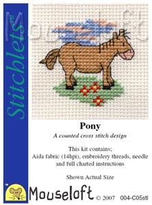 Mouseloft Stitchlets Pony