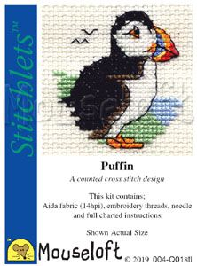 Mouseloft Stitchlets  Puffin