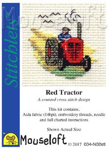 Mouseloft Stitchlets Red Tractor