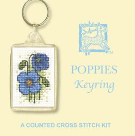 Poppies Keyring Cross Stitch Kit