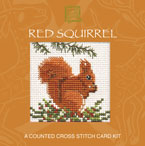 Red Squirrel Cross Stitch Card Kit