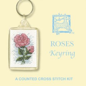 Roses Keyring Cross Stitch Kit