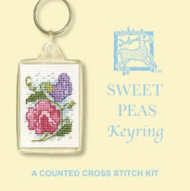 Sweet Peas Keyring Cross Stitch Kit
