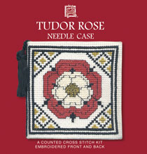 Tudor Rose Needle Case Cross Stitch Kit