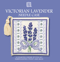 Victorian Lavender  Needle Case Cross Stitch Kit