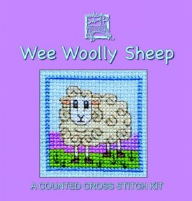 Wee Woolly Sheep  Cross Stitch Card Kit