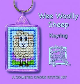 Wee Woolly Sheep  Keyring Cross Stitch Kit